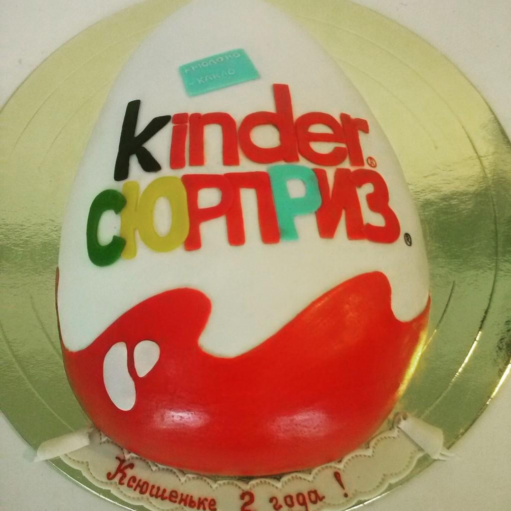 Торт киндер сюрприз кремовый