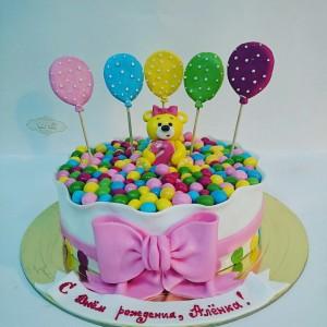 """Торт """"Мишка с шариками"""""""