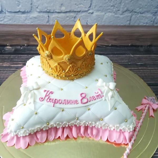 "Торт ""Подушка с короной"" Арт. 00293"