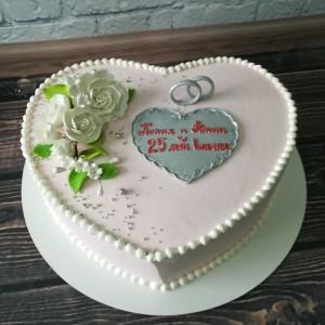 "Торт ""Серебряная свадьба"" АРТ. 00286"