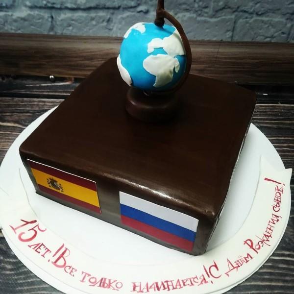 """Торт """"Любитель географии"""" Арт. 00334"""