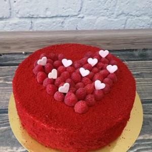 """Торт """"Малиновое сердце"""" Арт. 00429"""