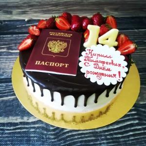 """Торт """"На 14 лет"""" Арт. 00453"""