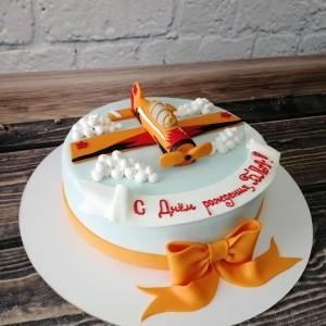"""Торт """"Оранжевый самолёт"""" Арт. 00444"""
