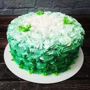 """Торт """"Зелёный с омбре"""" Арт. 00445"""