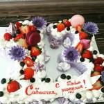 """Торт """"Цифры в лавандовым цвете"""" Арт. 00437"""