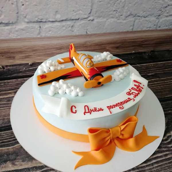 """Торт """"Оранжевый самолёт"""" Арт. 00479"""