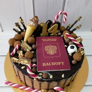 """Торт """"На 14 лет"""" Арт. 00493"""