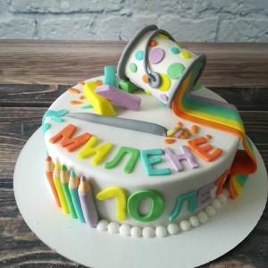 """Торт """"Для юной художницы"""" Арт. 00481"""