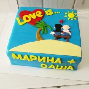 """Торт """"Love is..."""" Арт. 00554"""
