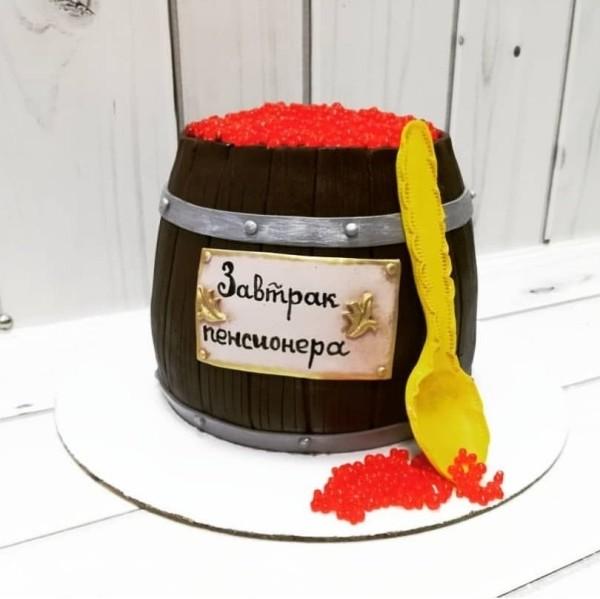 """Торт """"Бочка с икрой"""" Арт. 00589"""