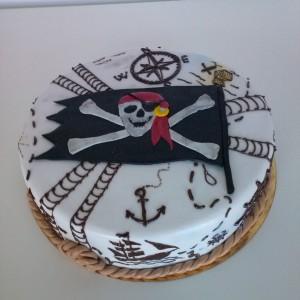 """Торт для мальчиков """"Пиратский флаг"""""""