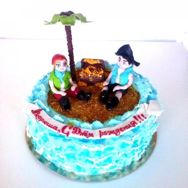 """Детский торт """"Сокровища пиратов"""""""