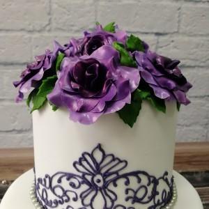 """Торт """"Сиреневые розы"""" Арт. 00454"""