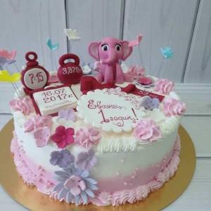 """Торт """"Розовый слонёнок"""" Арт. 00486"""