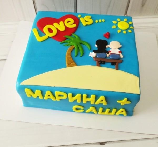 """Торт """"Love is…"""" Арт. 00554"""