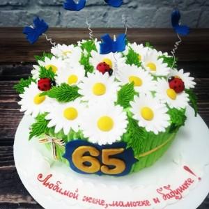 """Торт """"Корзина с цветами"""" Арт. 00609"""
