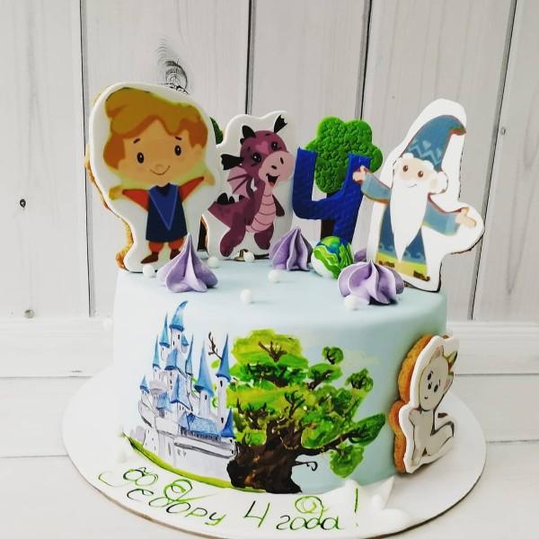 """Торт """"На 4 года"""" Арт. 00653"""