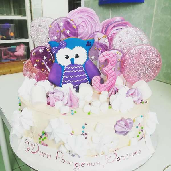 "Торт ""Милая сова"" Арт. 00649"