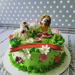 "Торт ""Девочка с собачкой"" Арт. 00686"