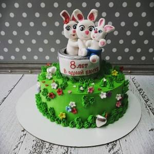 """Торт """"На жестяную свадьбу"""" Арт. 00721"""