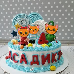 """Торт """"Котики для мальчика"""" Арт. 00729"""