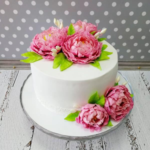 """Торт """"Съедобные цветы из шоколада"""" Арт. 00731"""