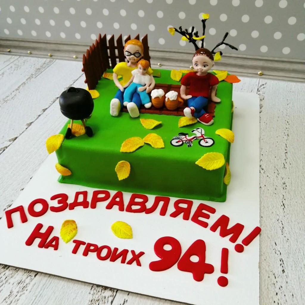 начинкой торт для троих именинников фото картина, которой