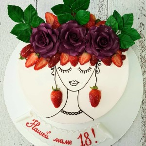 """Торт """"Нашей маме 18"""" Арт. 00767"""