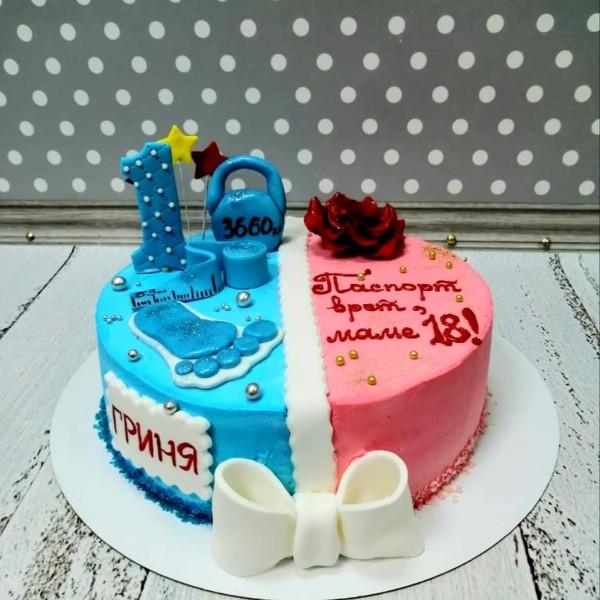 """Торт """"День рождения мамы и сына в один день"""" Арт. 00769"""