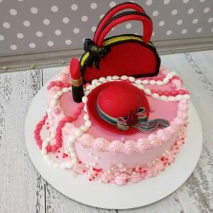 "Торт ""Сумочка и шляпка"" Арт. 00756"