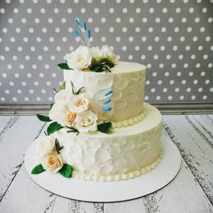 """Торт """"Кремовый свадебный торт"""" Арт. 00786"""