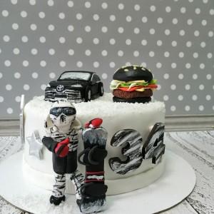 """Торт """"Для любителя сноубординга"""" Арт. 00776"""