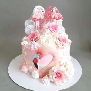 """Торт """"Розовый фламинго"""" Арт. 00814"""