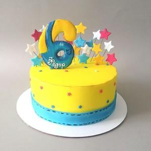 """Торт """"На 6-ти летие"""" Арт. 00836"""
