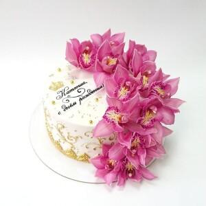 "Торт ""С живыми цветами"" Арт. 00879"