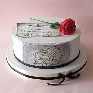 "Торт ""Красавица и чудовище"" Арт. 00870"