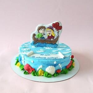 """Торт """"На 40-летнюю годовщину свадьбы"""" Арт. 00875"""