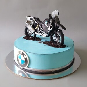 "Торт ""С мотоциклом BMW"" Арт. 00876"