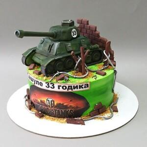 """Торт """"Для любителя танков"""" Арт. 00901"""