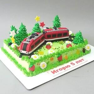 """Торт """"С поездом"""" Арт. 00905"""