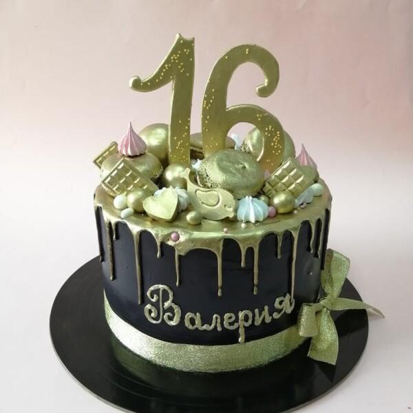 """Торт """"Стильный чёрный"""" Арт. 00999"""