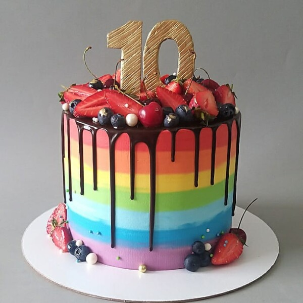 """Торт """"Яркий и радужный"""" Арт. 01044"""