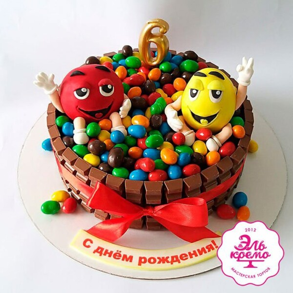 "Торт ""Красный и Желтый"" Арт. 01049"