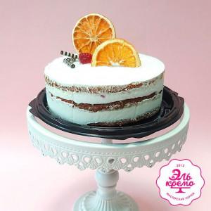 """Торт """"Апельсиновый крем-чиз-малина"""" Арт. 01098"""