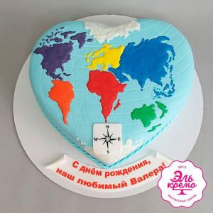 """Торт """"6 континентов и океан"""" Арт. 01109"""